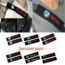 2pcs/set Car Logo Cotton Seat belt Shoulder Pads covers emblems Fit for all cars