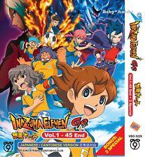 DVD Anime INAZUMA ELEVEN GO Complete Series (1-45) End + 2 Specials English Sub