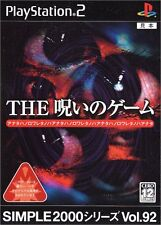 Used PS2 Simple 2000 Series Vol. 92: The Game of a Curse Japan Import