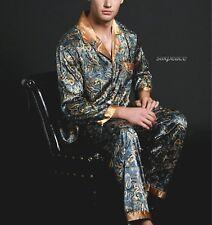 9d08b11a50f1 Mens Silk Satin Pajama Set US S M L XL XXL 3xl Loungewear Multi-color  Silkpeace 7