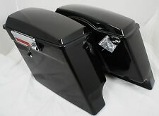 Fat Ass Wide Width Extended Stretched Hard Saddlebag Fits Harley HD Touring