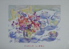 Affiche Sarah Bibra - Tea in the garden