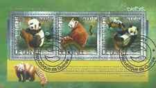 Timbres Animaux Pandas Guinée 7199/7201 o année 2014 lot 10804 - cote : 23 €