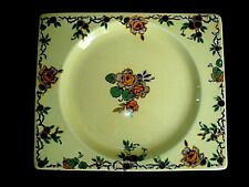 Clarice Cliff The Biarritz Royal Staff Rectangle Blue/Orange 9 inch Plate c1935