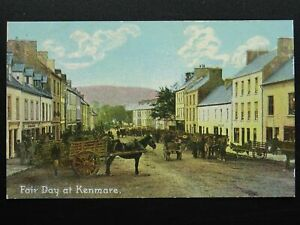 Ireland Kerry KENMARE Market & Fair Day c1905 Postcard by Dainty Novels