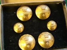 More details for set of vintage cottesmore hunt buttons in original box, firmin for henry poole
