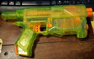 HTF Nerf Recon CS-6 Clear Sonic Green Dart Blaster Only Main Body Transparent