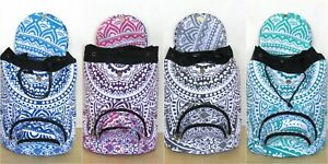Wholesale Lots 5 Pcs Indian Ombre Mandala Man Woman Backpack Cotton Sport Bags