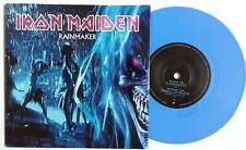 """EX/EX! IRON MAIDEN RAINMAKER 2003 7"""" BLUE VINYL 45"""