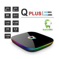QBOX+ HDR Quad Core 4GB DDR3 32GB EMMG WiFi Android 9.0 Smart Streaming TV Box