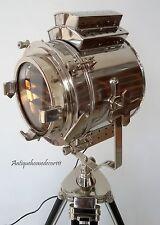 CHROME SPOT SEARCHLIGHT FLOOR LAMP SPOTLIGHT DECOR BIG LIGHT FREE SHIPPING IN UK