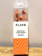 Flavr Rechargeable Wireless Bluetooth Stereo Headset - Orange