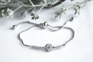 Round Diamante Cluster Bracelet - Bridesmaid/Gift/Wedding/Prom