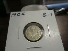 1904 - Canada 5 cent coin - silver Canadian nickel
