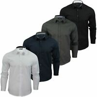 Mens Plain Shirt by Brave Soul 'Tudor' Long Sleeved