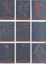 Iron Man 2 Complete Armored Embossed Chase Card Set AC1-9