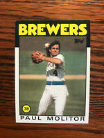 1986 Topps #267 Paul Molitor Baseball Card Milwaukee Brewers Raw