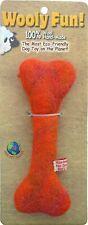 """Wooly Fun! 4.5"""" Dog Bone Eco-friendly Wool Toy"""