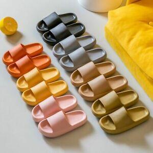 2021 Women Summer Fashion Slippers Slide Sandals Beach High Heels Thick Soft EVA