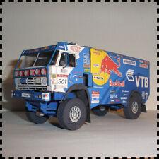1:32 Scale Russian Kamaz 4326-9 The Paris Dakar Rally Truck Paper Model Kit