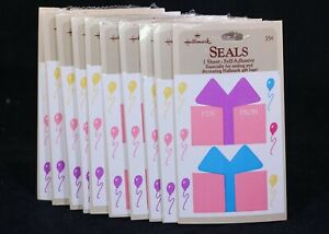 Ten (10) Hallmark ~Present!~ Gift Seals. 1 Sheet Per Package