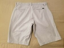 Mens RVCA Khaki Shorts 32 Gray Cotton Chino