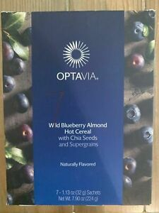 Lot 4 OPTAVIA Wild Blueberry Almond Hot Cereal 4 Sachets OUT OF STOCK HTF Expire