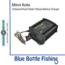 Minn Kota MK-220A Onboard Dual Outlet 20amp Battery Charger 2 Bank