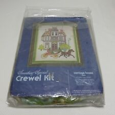Vtg 1980 Candamar Something Special Crewel Kit Carriage House 40081 Open