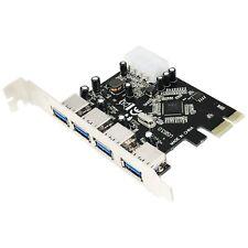 Scheda PCI Express Controller 4 Porte USB 3.0 A Femmina Alimentazione Molex VIA
