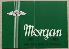 MORGAN PLUS 4 & 4/4 TOURER & COUPE Car Sales Brochure 1962 TR ENGINE