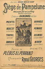 """PARTITION MUSIQUE PLEBUS PERRAND GEORGES """" LE SIEGE DE PAMPELUNE """" PAMPLONA"""