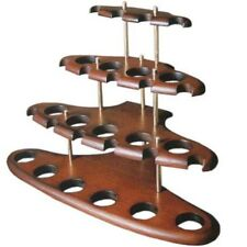 Stand For 15 Smoking Pipe wooden Holder Rack Handmade Pipes Showcase for 9 pipes