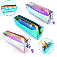 New Portable Hologram Pencil Case Toiletry Zip Pouch Makeup Cosmetic Storage Bag