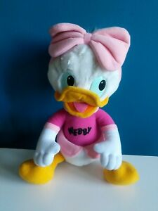 "Vtg Duck Tales Webby Girl Duck Pink Bow Disney 12"" Plush Doll Toy 1986 Hasbro"