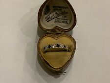 9ct Gold CZ & Sapphire Half Eternity Ring Size L ladies Girls