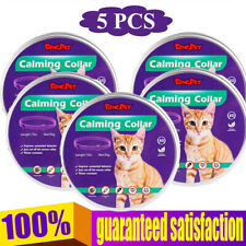 5 Pack Calming Collar for Cats Natural Ingredients Adjustable 15 in Waterproof