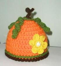 PUMPKIN baby Hat  Crochet PHOTO PROP newborn 0-3 mo  Halloween#