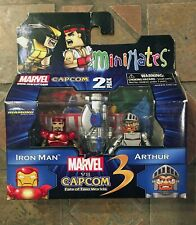 Marvel vs Capcom IRON MAN VS ARTHUR Wave 1 Minimates Avengers Ghosts N Goblins