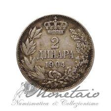 (Monetaio) Serbia Petar I 2 Dinari 1904 Silver KM# 26.1