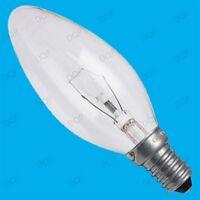 2x 60W CLEAR CANDLE INCANDESCENT FILAMENT LIGHT BULBS SMALL EDISON SCREW SES E14