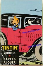 Jeu de cartes à jouer TINTIN et les AUTOS Hergé - Moulinsart 2004 voitures cards