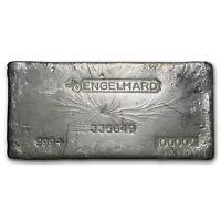 100 oz Silver Bar - Engelhard (Bull Logo) - SKU #61884