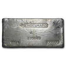 100 oz Engelhard Silver Bar - Bull Logo - SKU #61884