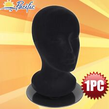 Female foam black MANNEQUIN head holder stand display wig hat glasses 11""