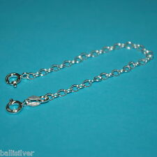 """St. Silver 5"""" Safety Chain Extender w/ 2 Spring Clasps"""