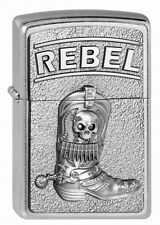 ZIPPO Feuerzeug COWBOY BOOTS w. SKULL REBEL m. Emblem  Collection 2013 OVP NEU