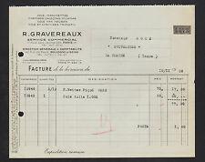 """BOULOGNE-sur-SEINE (92) COLS & MANCHETTES de CHEMISE """"R. GRAVEREAUX"""" en 1936"""