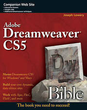 Adobe Dreamweaver CS5 Bible by Lowery, Joseph