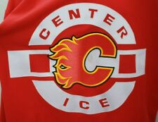 RARE CALGARY FLAMES CENTER ICE CCM NHL LICENCED RED PRACTICE JERSEY SIZE 54 VGC!